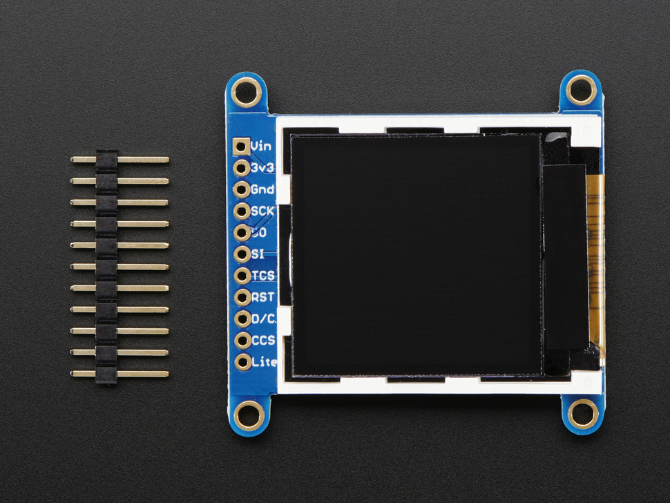 Adafruit 1.44 Color TFT LCD Display with MicroSD Card breakout [ST7735R]  ID: 2088 - $14.95 : Adafruit Industries, Unique & fun DIY electronics and  kits