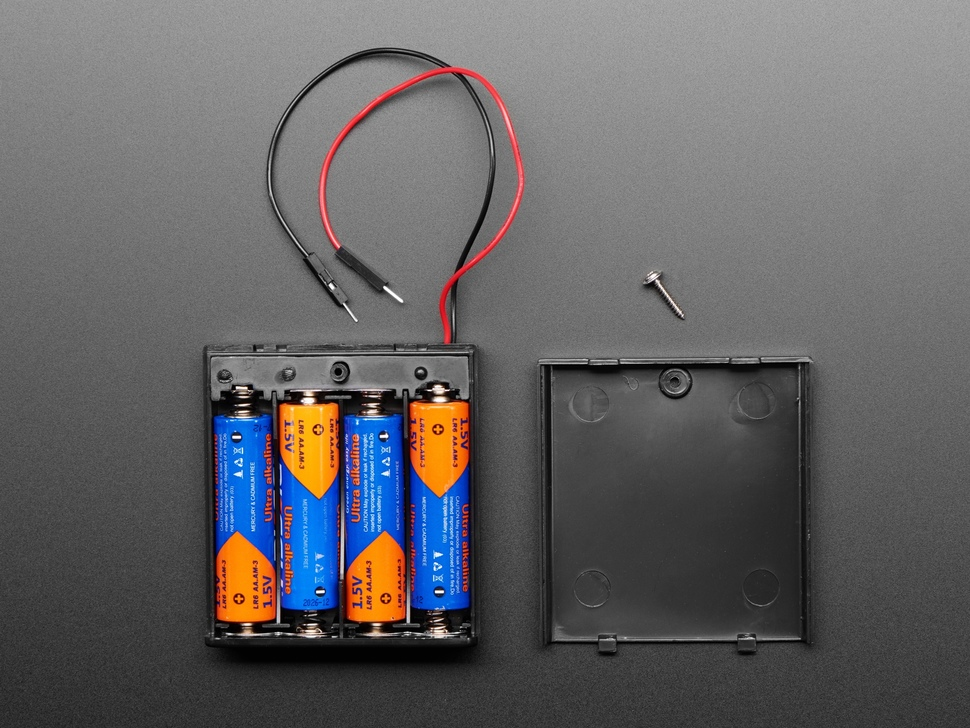 4 x AA Battery Holder with On/Off Switch