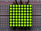 "Small 1.2"" 8x8 Ultra Bright Green LED Matrix"
