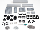 OpenBeam Precut Machinist Kit - Silver Aluminum