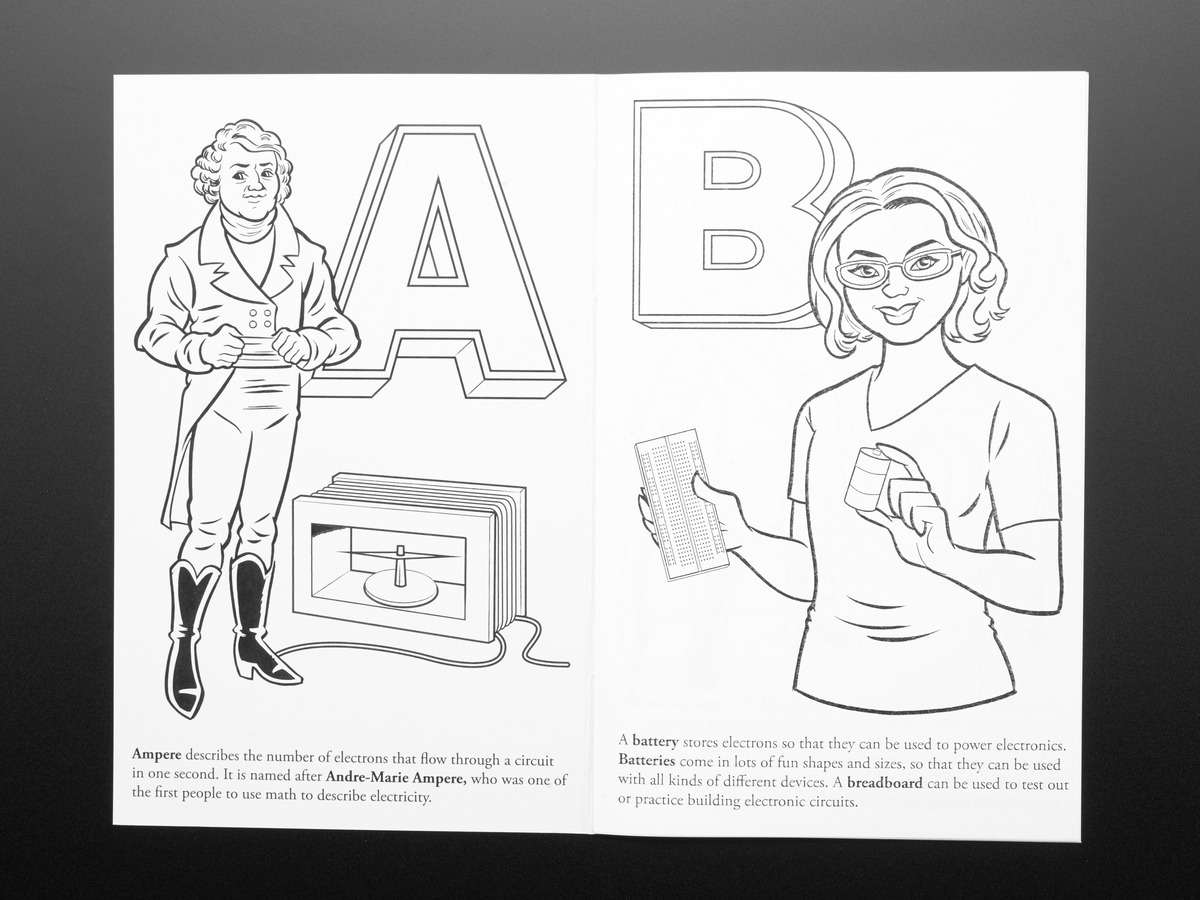 Coloring book - Ladyada\'s E is for electronics ID: 1000 - $9.95 ...
