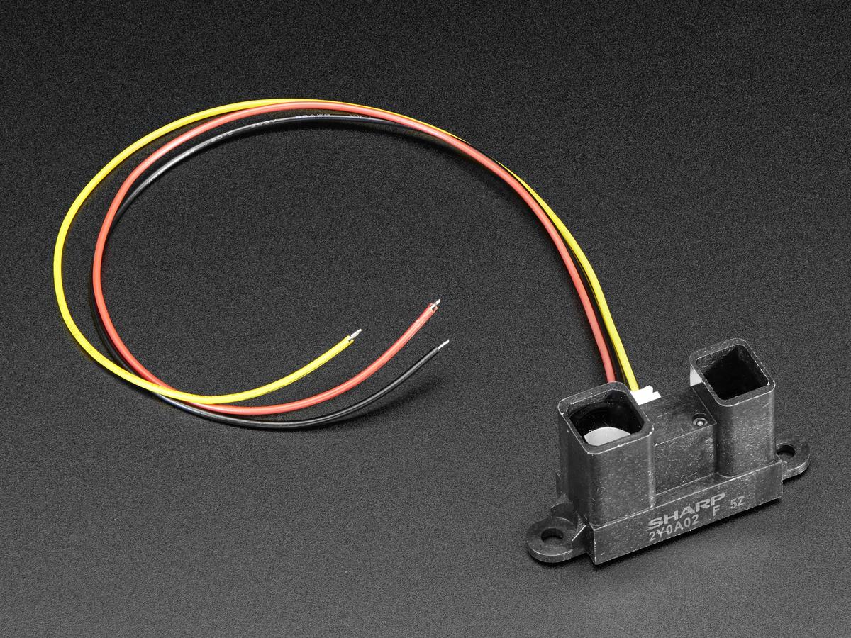 IR distance sensor includes cable (20cm-150cm) [GP2Y0A02YK] ID: 1031