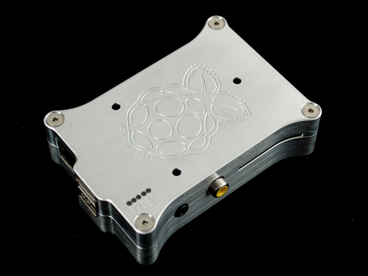 Pi Holder milled aluminum case for Raspberry Pi Model B w/logo ...