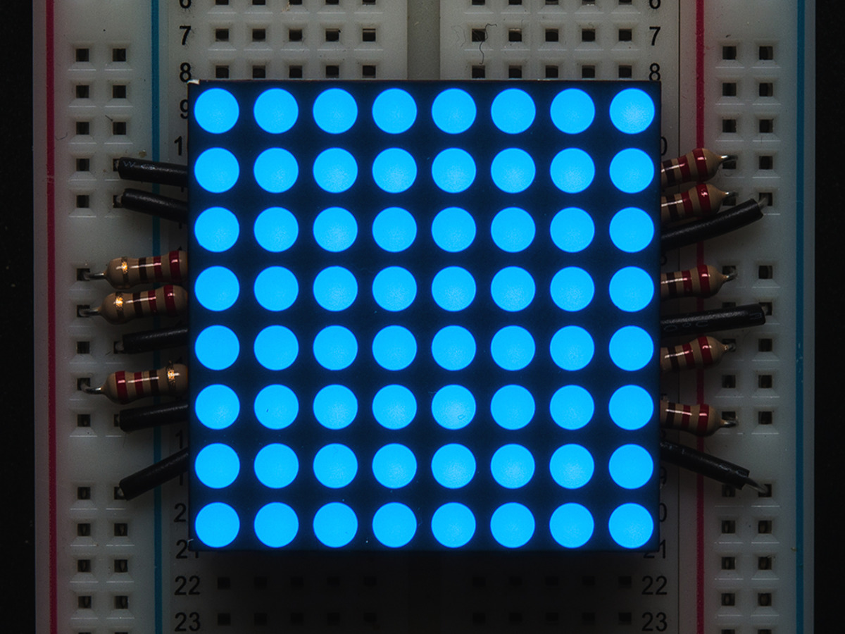 "Small 1.2"" 8x8 Ultra Bright Blue LED Matrix - KWM-30881CBB ..."