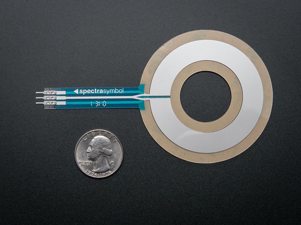 Circular Soft Potentiometer (Ribbon Sensor) ID: 1069 - $7.95 ...