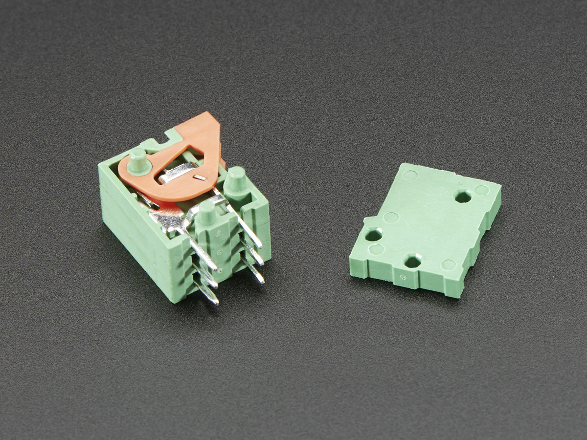 Configurable Spring Terminal Blocks - 3 Pin 0.1 Pitch x 5 ID: 1081 ...