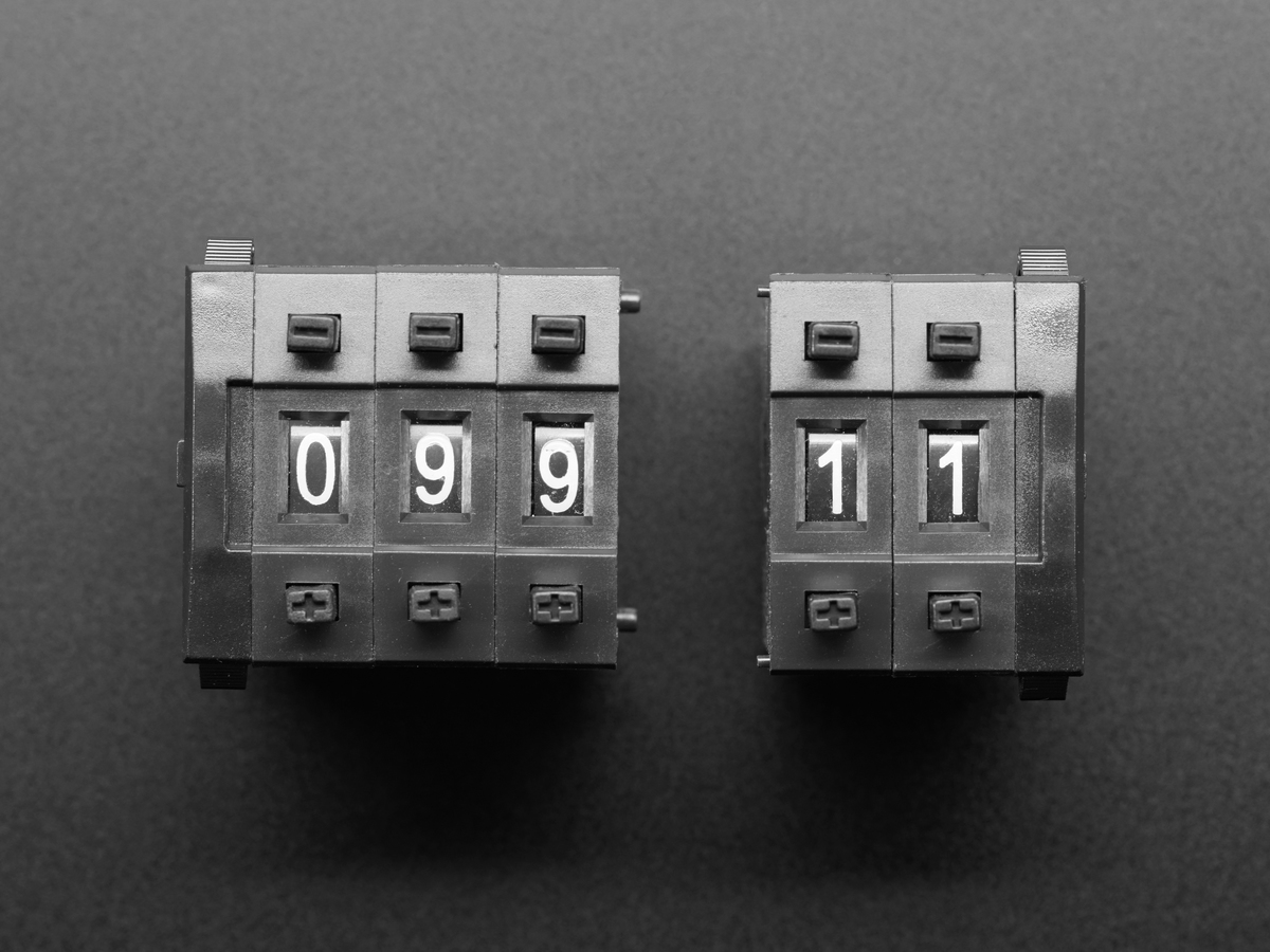 ... Mechanical Decade Counters - Large Size - Pack of 5