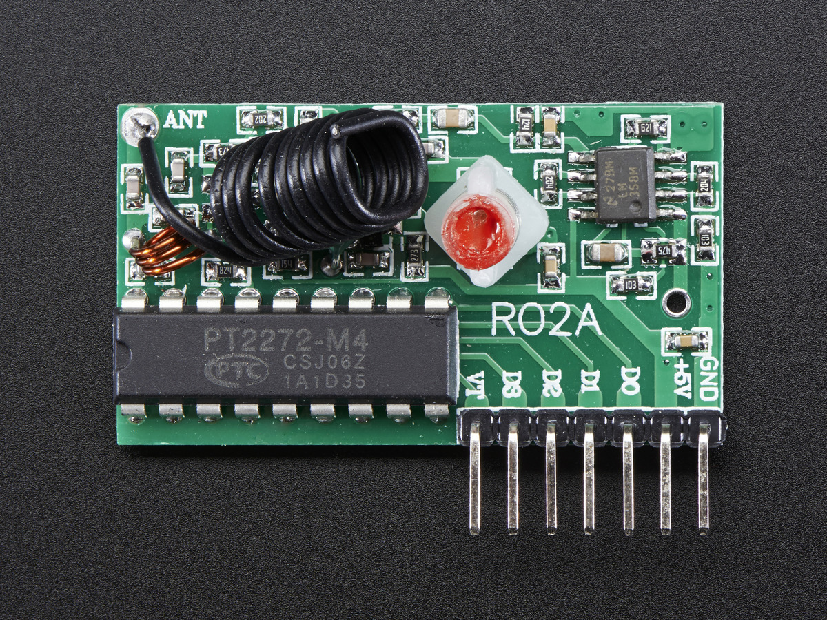Simple RF M4 Receiver - 315MHz Momentary Type ID: 1096 ... on