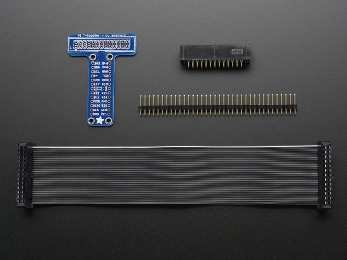 Configuring I2c Adafruits Raspberry Pi Lesson 4 Gpio Setup Wiringpi Write Adafruit Unassembled T Cobbler Breakout Kit For