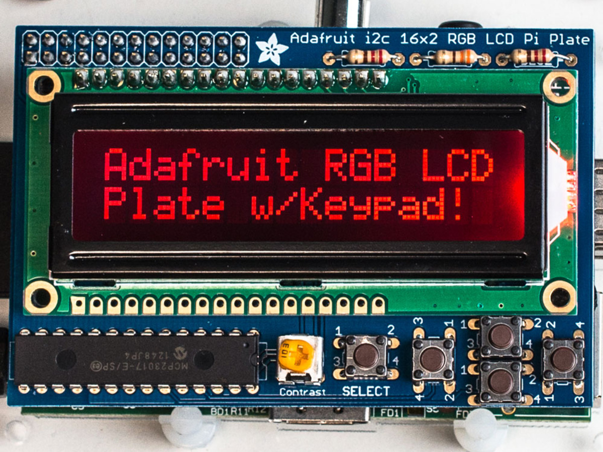 Adafruit RGB Negative 16x2 LCD+Keypad Kit for Raspberry Pi ID: 1110