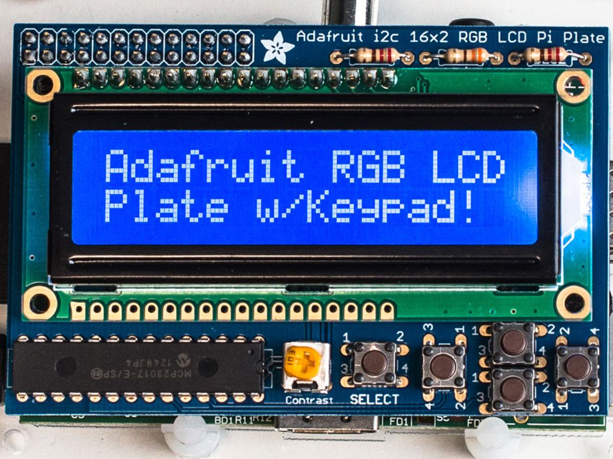 Adafruit Rgb Negative 16x2 Lcd Keypad Kit For Raspberry Pi