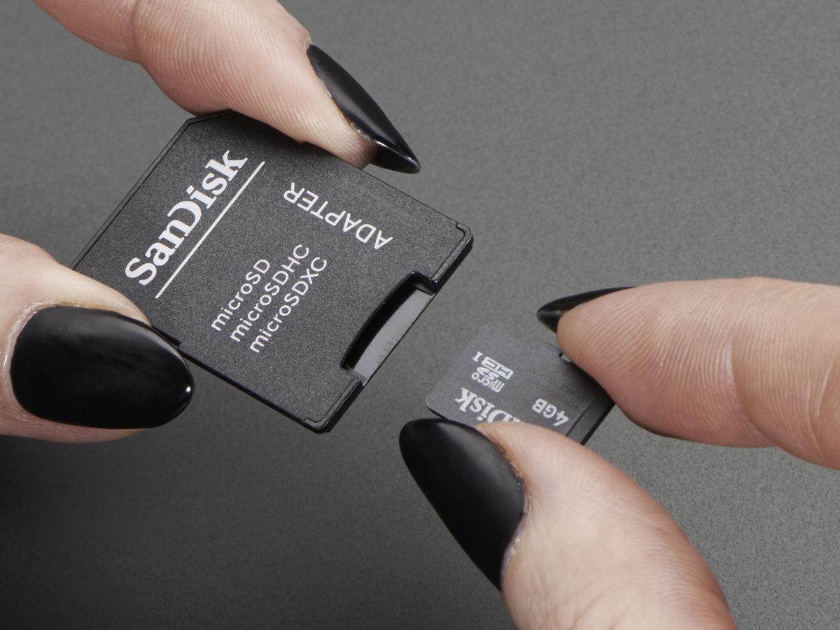 4GB SD card for Raspberry Pi preinstalled with Raspbian