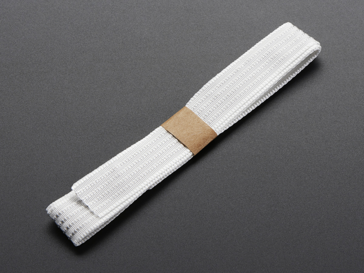 Conductive Thread Ribbon Cable White 1 Yard Id 1139