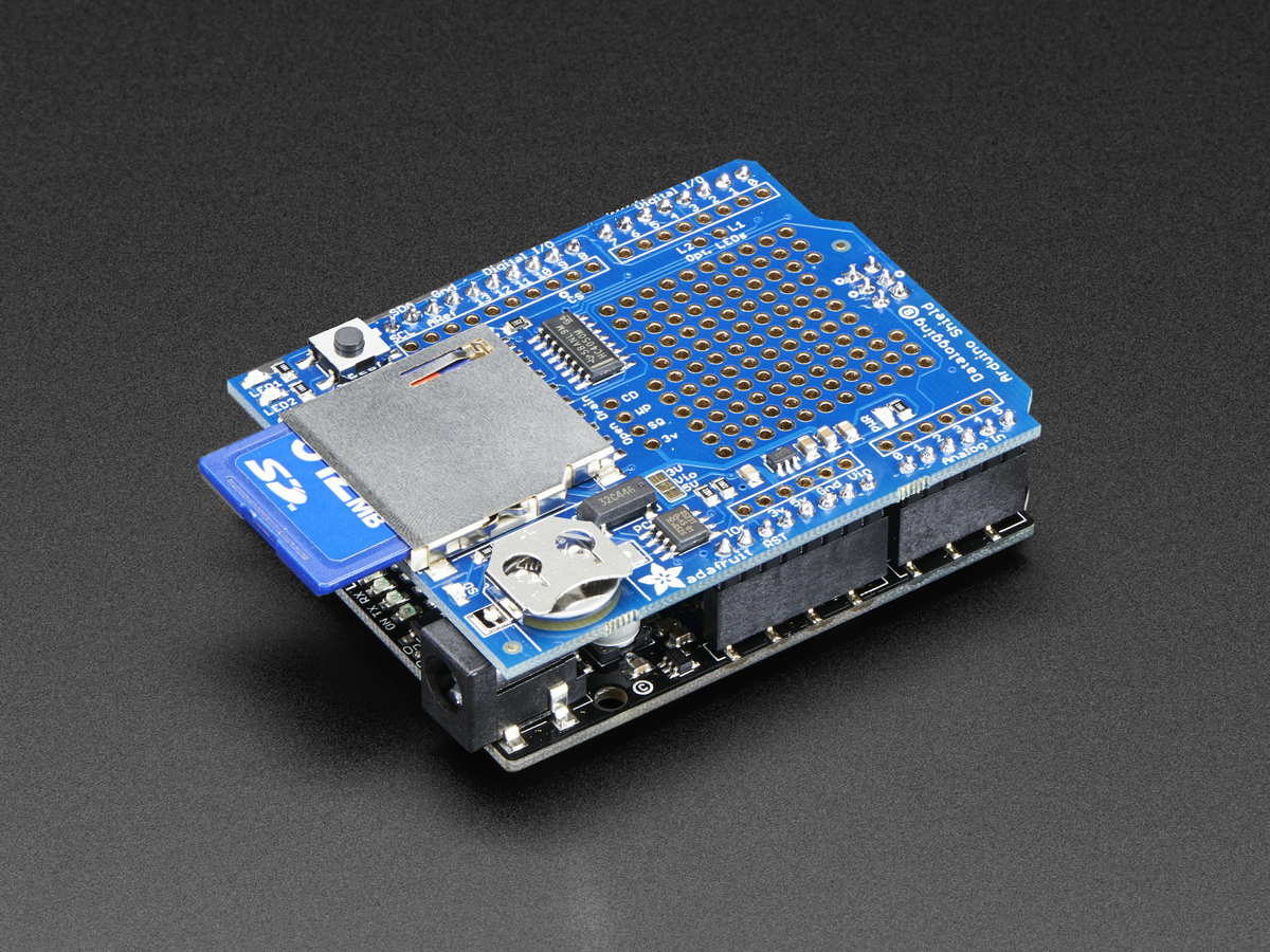 Adafruit Assembled Data Logging shield for Arduino ID: 1141