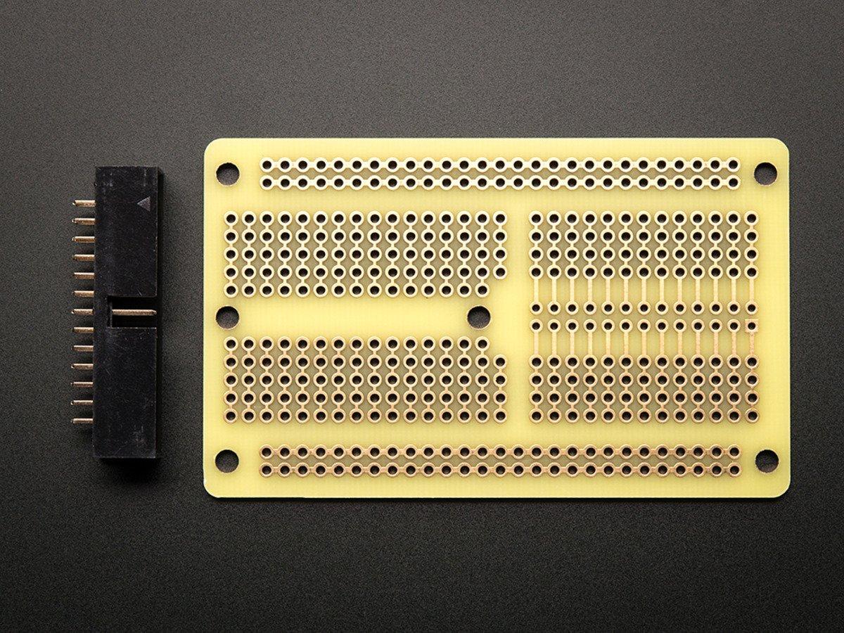 Adafruit Half Size Perma Proto Raspberry Pi Breadboard Pcb Kit Id With Wire Watterott Electronic