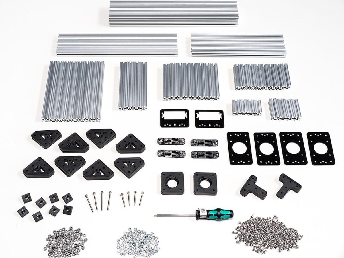 openbeam precut machinist kit - silver aluminum id  1166