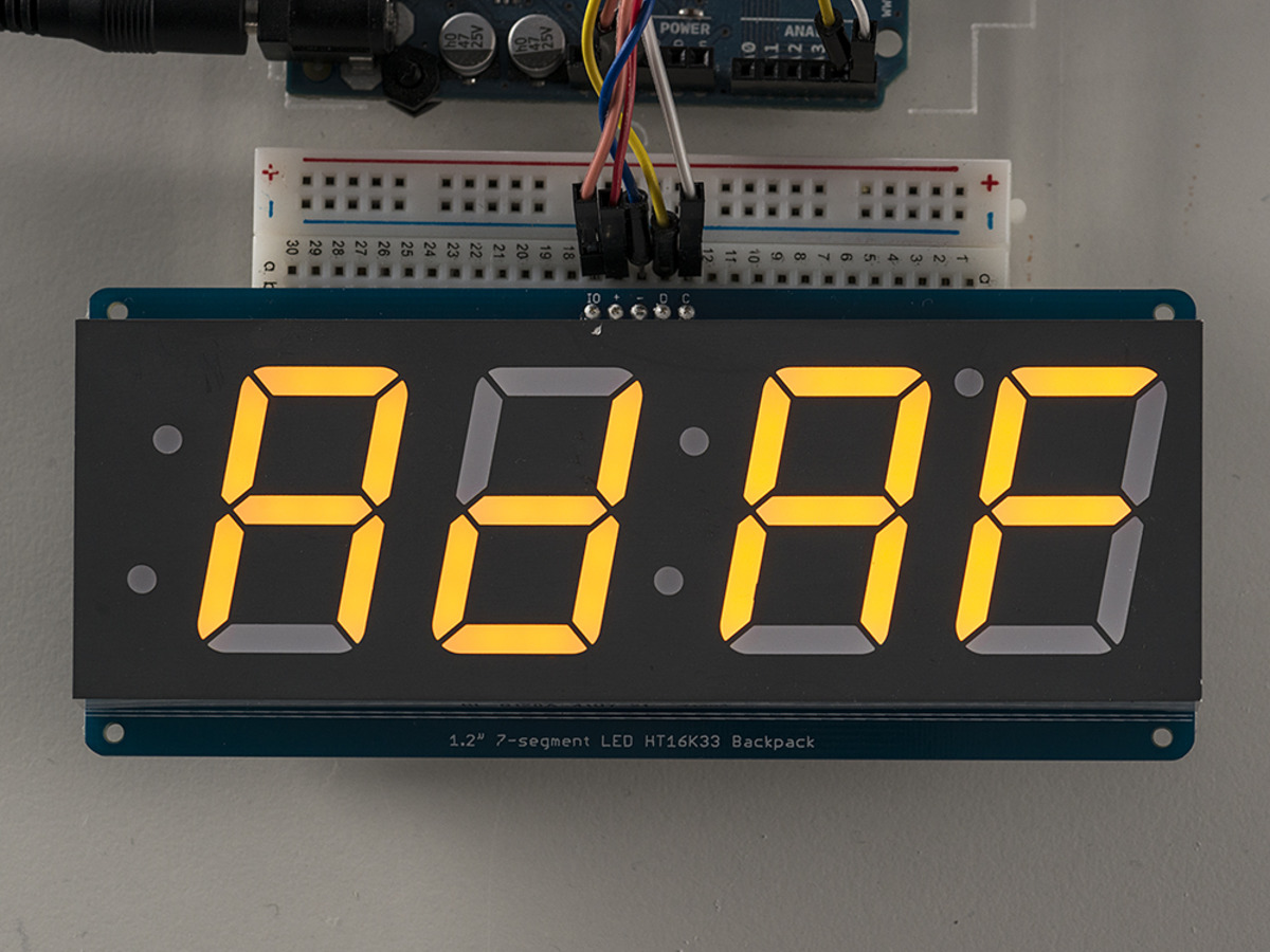 7 Segment Display Circuit Maker Guide And Troubleshooting Of Counter Adafruit 1 2 4 Digit W I2c Backpack With Bcd To