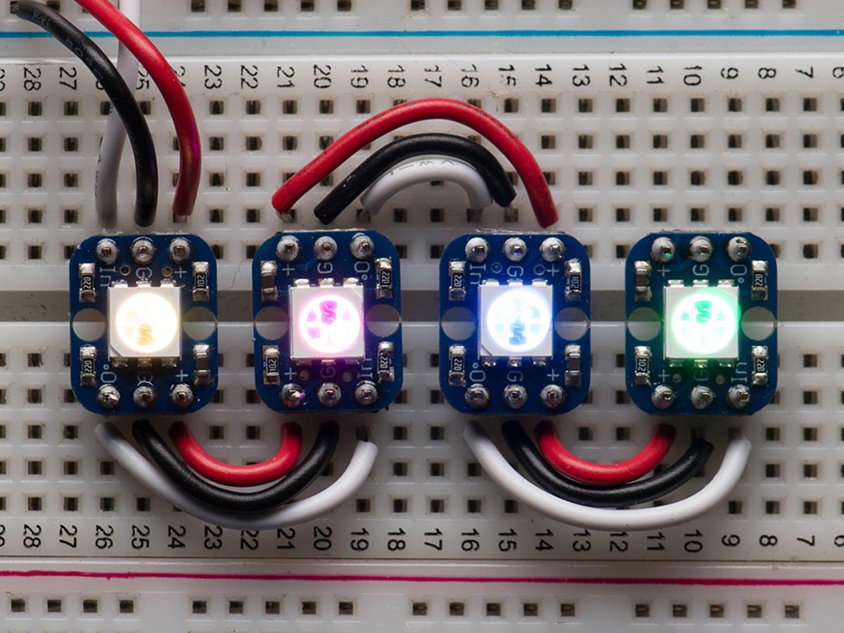 Adafruit Neopixel Digital Rgb Led Strip White 60 Id Of How The Control Circuit Should Look Like Breadboard Friendly Smart Pack 4