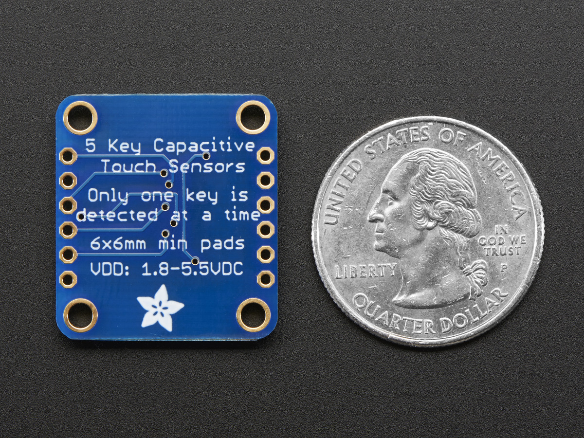 ... Standalone 5-Pad Capacitive Touch Sensor Breakout - AT42QT1070