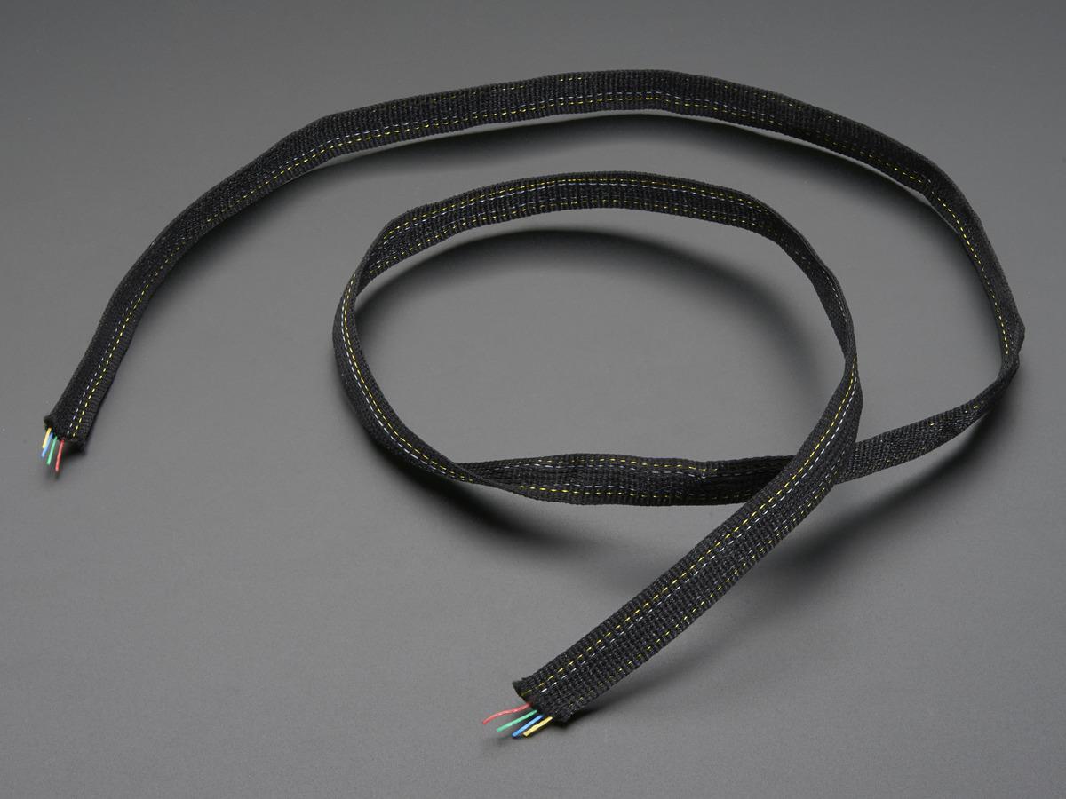 Fabric Ribbon 4-Channel Wire - 1 yard ID: 1373 - $5.95 : Adafruit ...