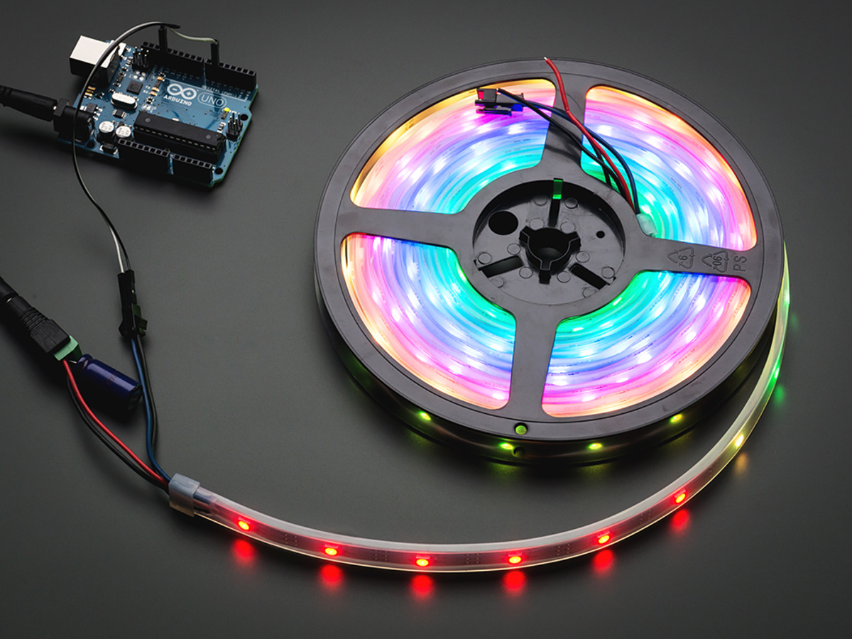 adafruit neopixel digital rgb led strip white 30 led 1m white id 1376 adafruit. Black Bedroom Furniture Sets. Home Design Ideas