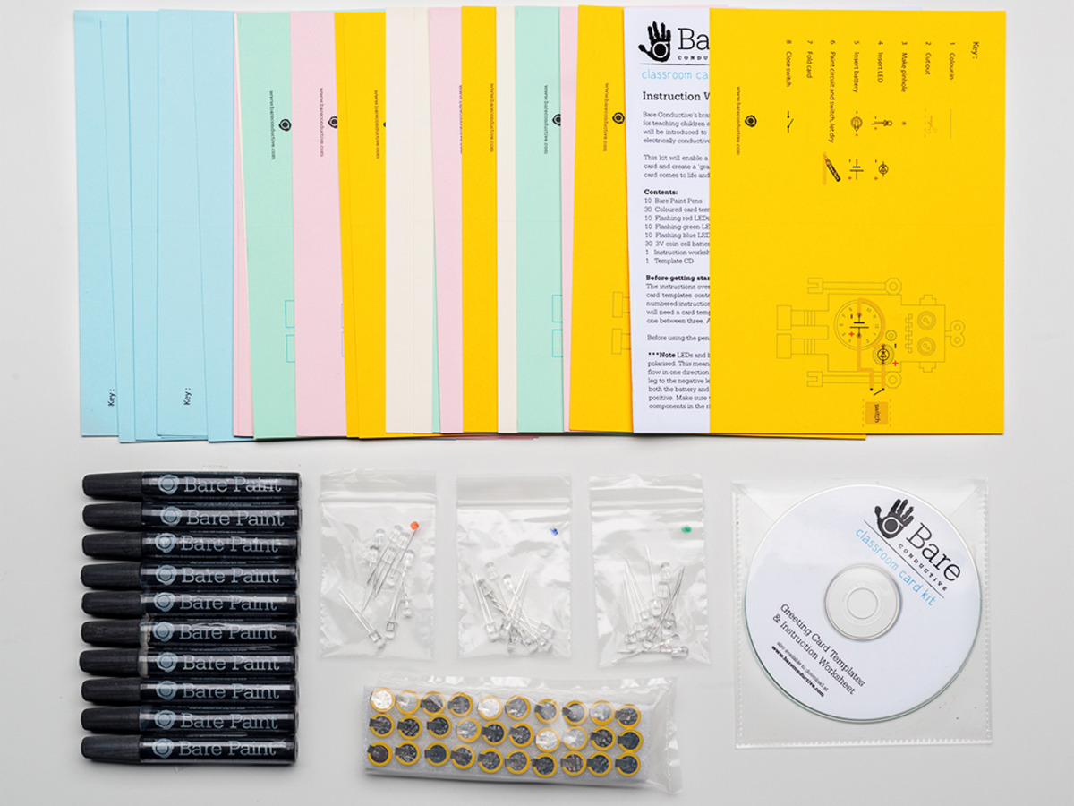 Bare conductive greeting card kit classroom pack id 1402 9995 bare conductive greeting card kit classroom pack m4hsunfo