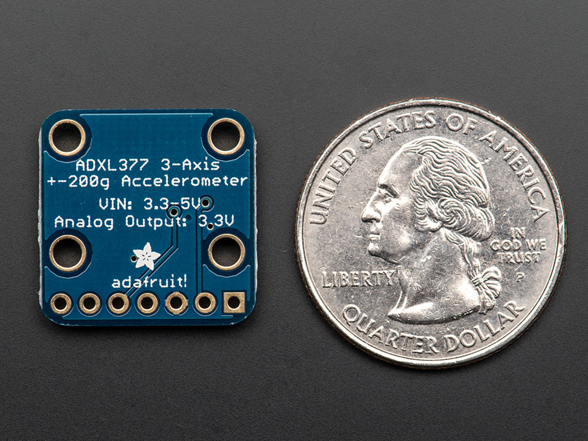 ... ADXL377 - High-G Triple-Axis Accelerometer (+-200g Analog Out)