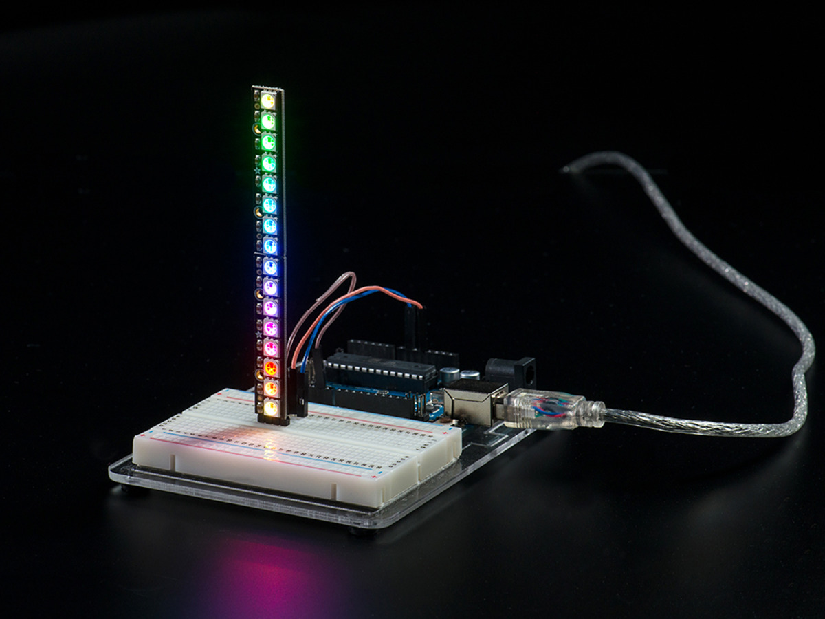 Neopixel Stick 8 X 5050 Rgb Led With Integrated Drivers Id 1426 Wiring Strip Light On Ends Free Download Diagrams