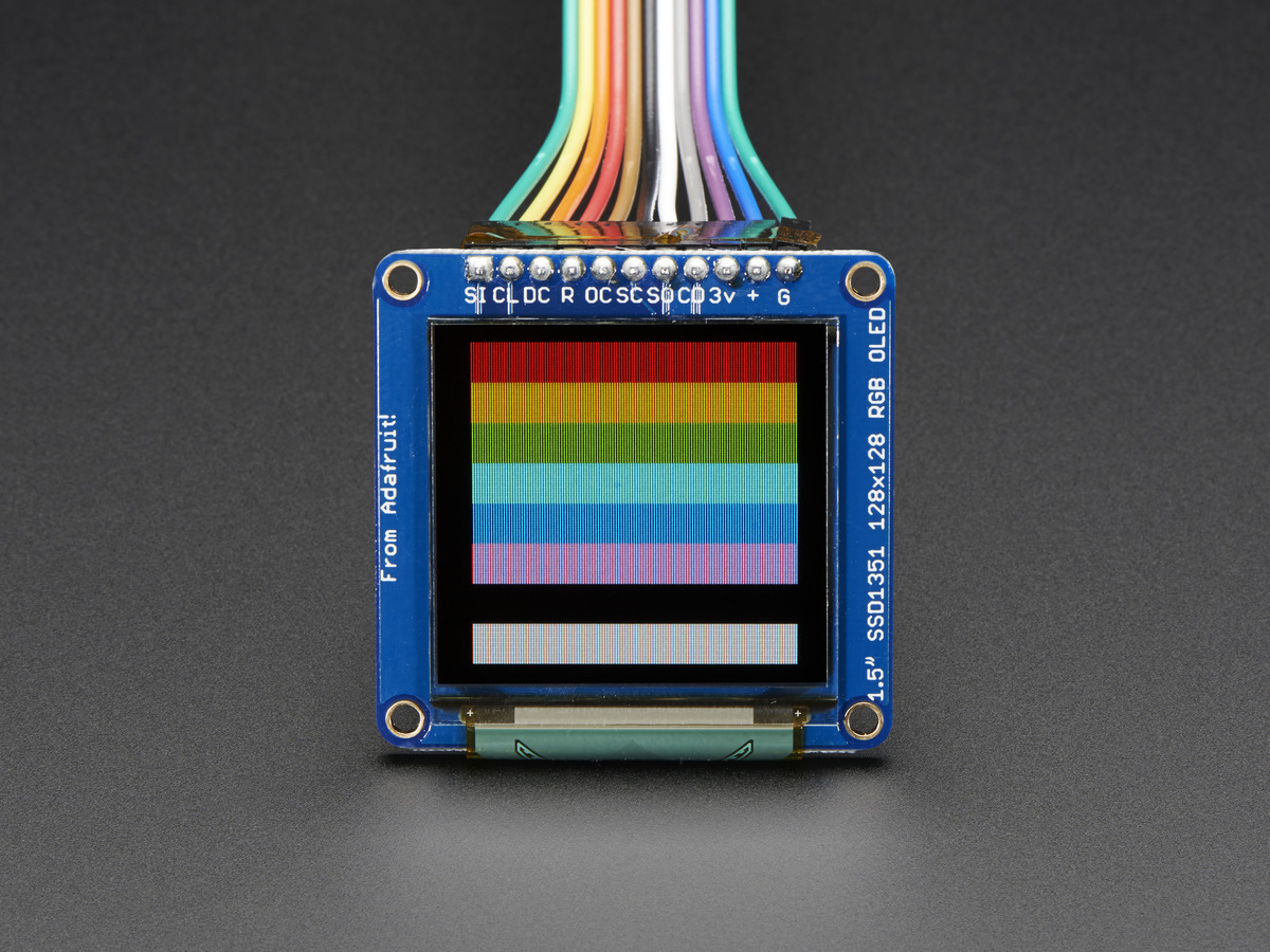 OLED Breakout Board - 16-bit Color 1 5