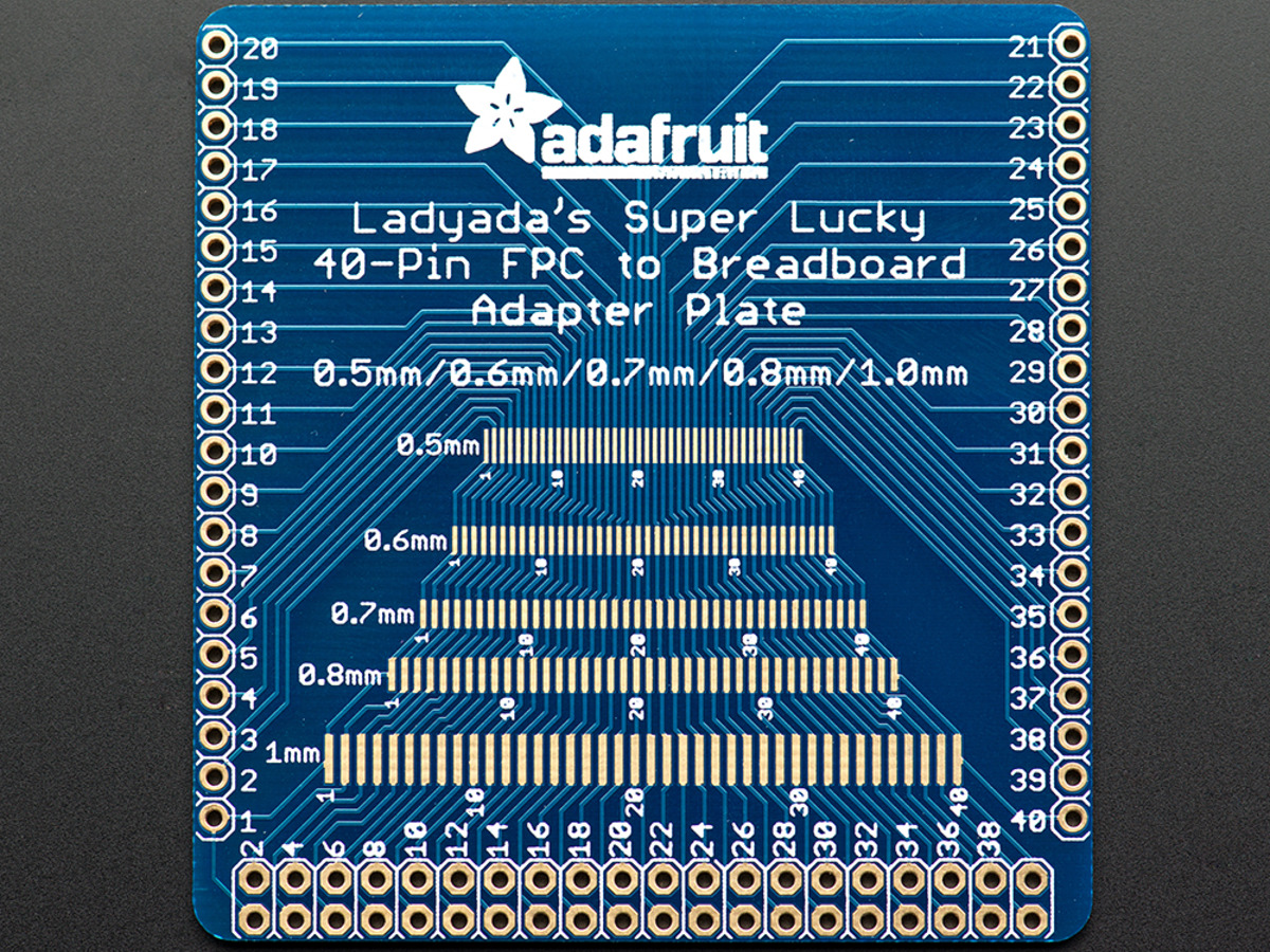 Adafruit Multi Pitch Fpc Adapter 40 Pin 0 5 0 6 0 7 0 8