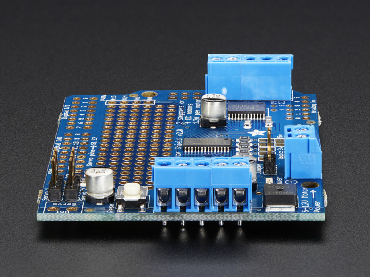 ... Adafruit Motor/Stepper/Servo Shield for Arduino v2 Kit - v2.3 ...