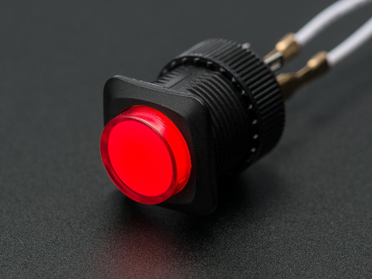 16mm illuminated pushbutton blue latching onoff switch id 1476 16mm illuminated pushbutton red latching onoff switch biocorpaavc Images
