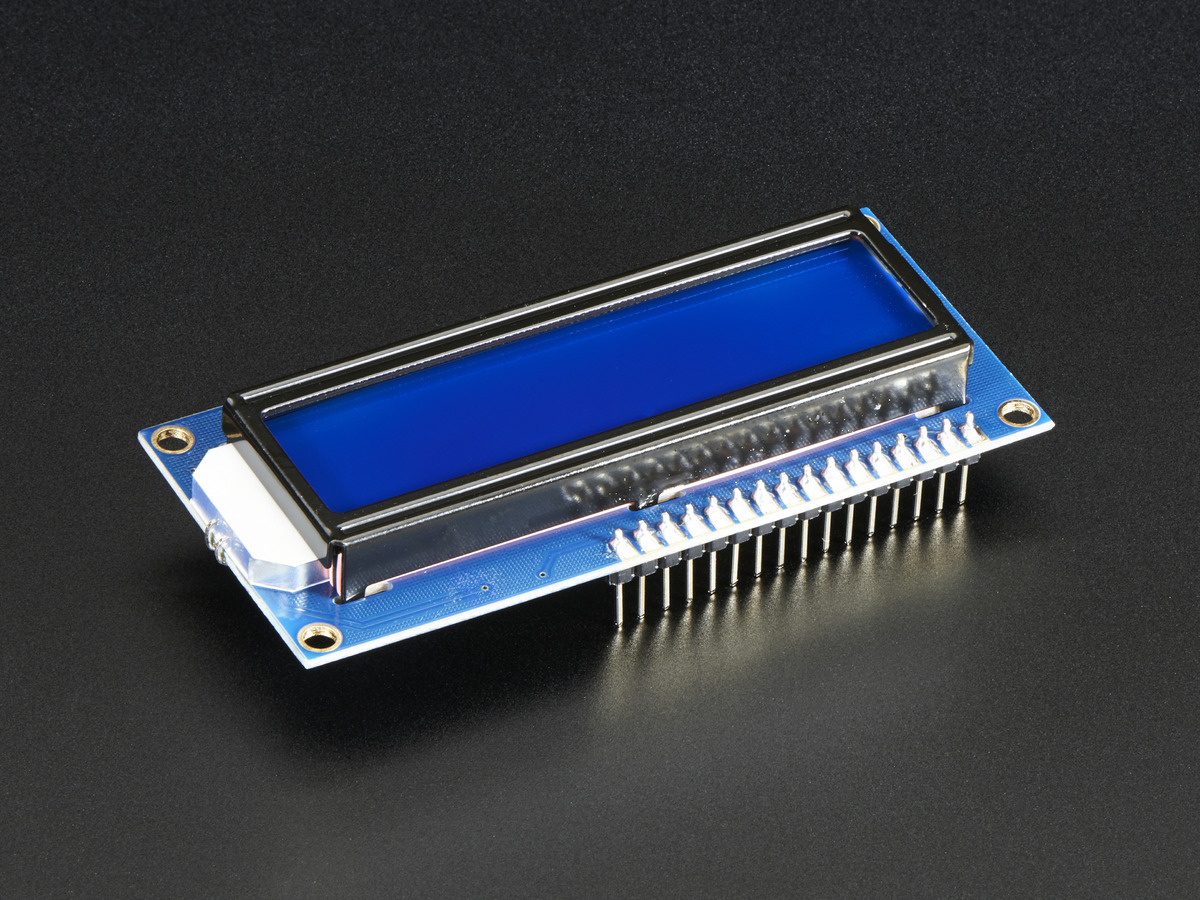Assembled Standard LCD 16x2 + extras - White on Blue ID