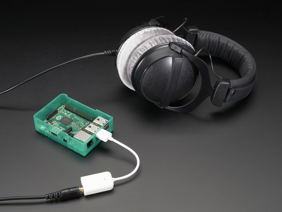 USB Audio Adapter - Works with Raspberry Pi ID: 1475 - $4.95 ... on audio speaker wall plates, audio headphone jacks, audio speaker stands,