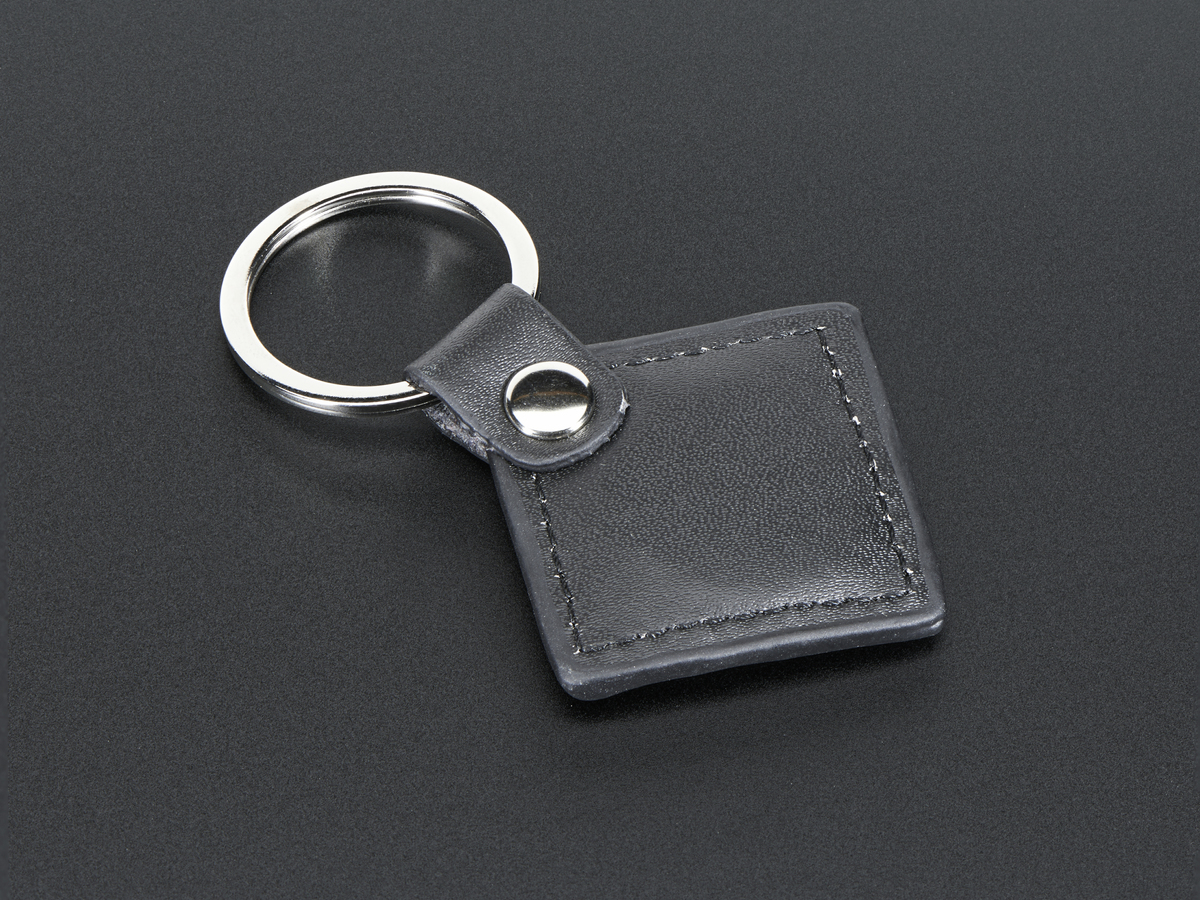 13 56MHz RFID/NFC Leather Keychain Fob - Classic 1K
