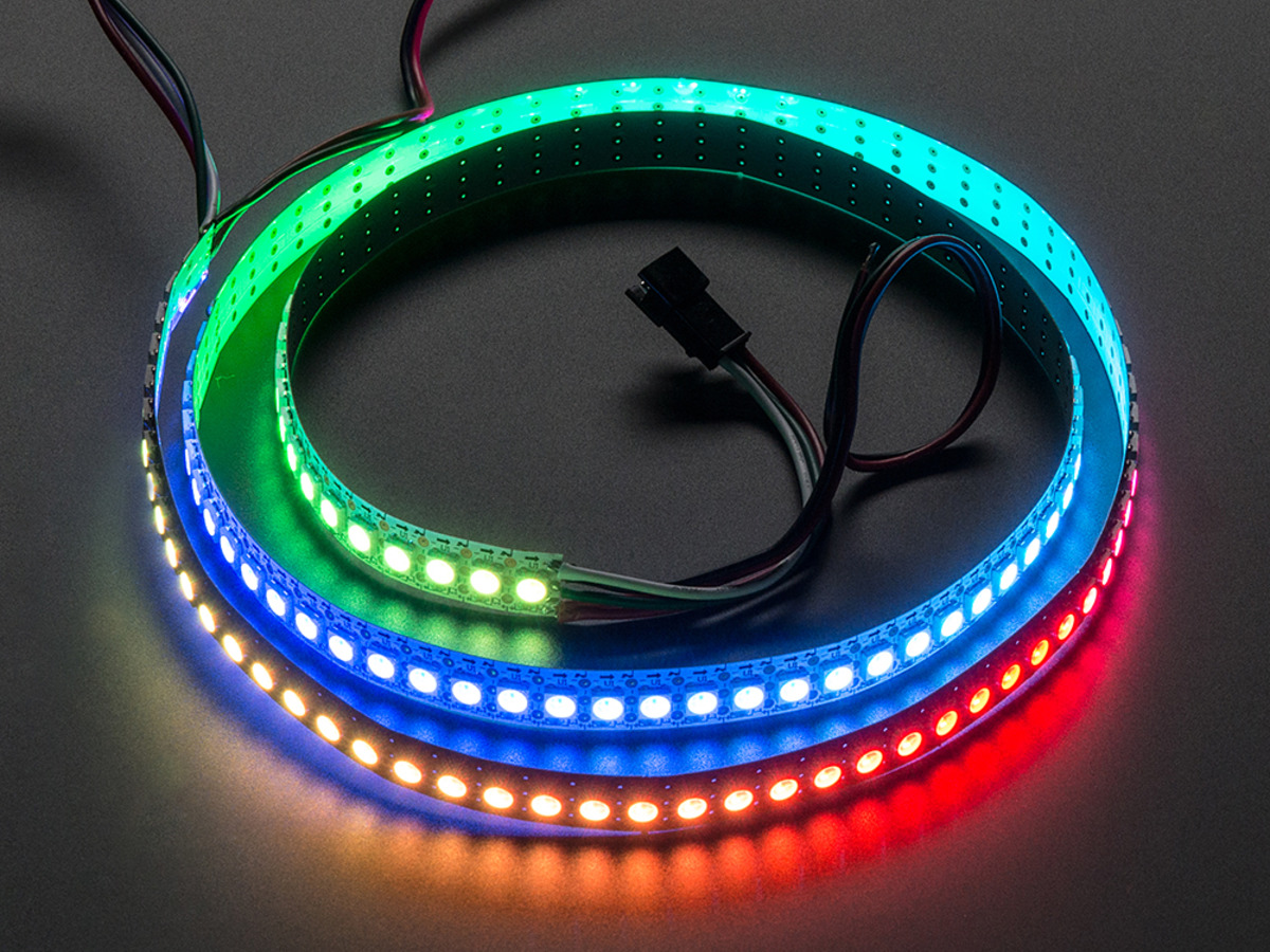 Adafruit Neopixel Led Strip Starter Pack 30 Meter Black Id Rgb Circuit With Arduino Digital 144 1m White