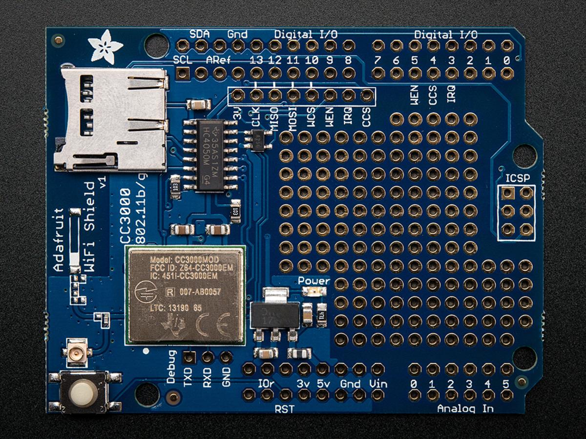 adafruit cc3000 wifi shield with ufl connector for ext antenna id rh adafruit com CC3000 Arduino CC3000 Arduino