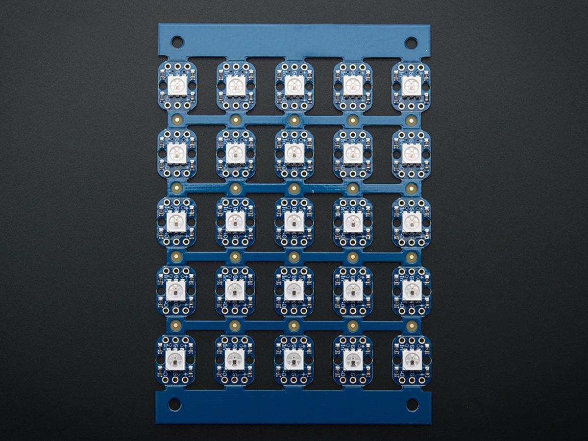 Breadboard-friendly RGB Smart NeoPixel - Sheet of 25