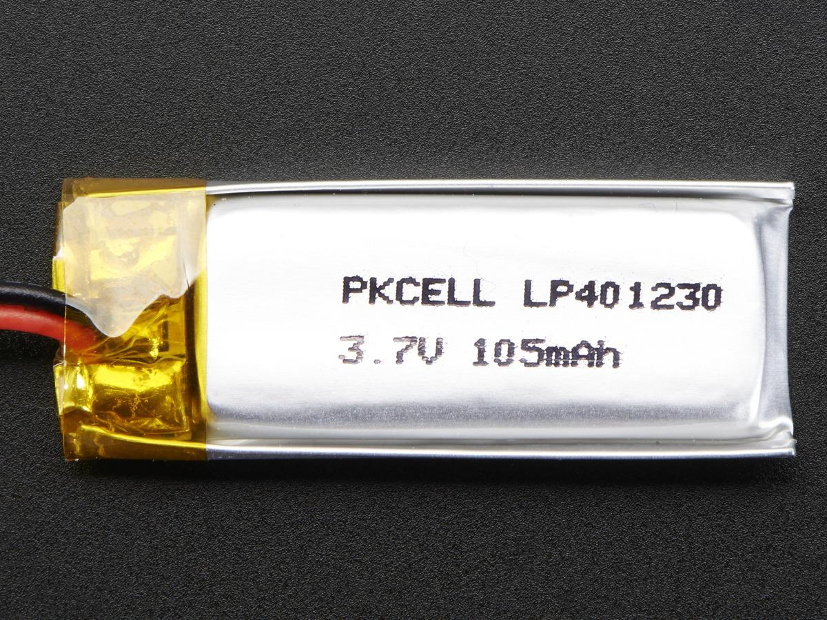 Lithium Ion Polymer Battery - 3 7v 100mAh ID: 1570 - $5 95