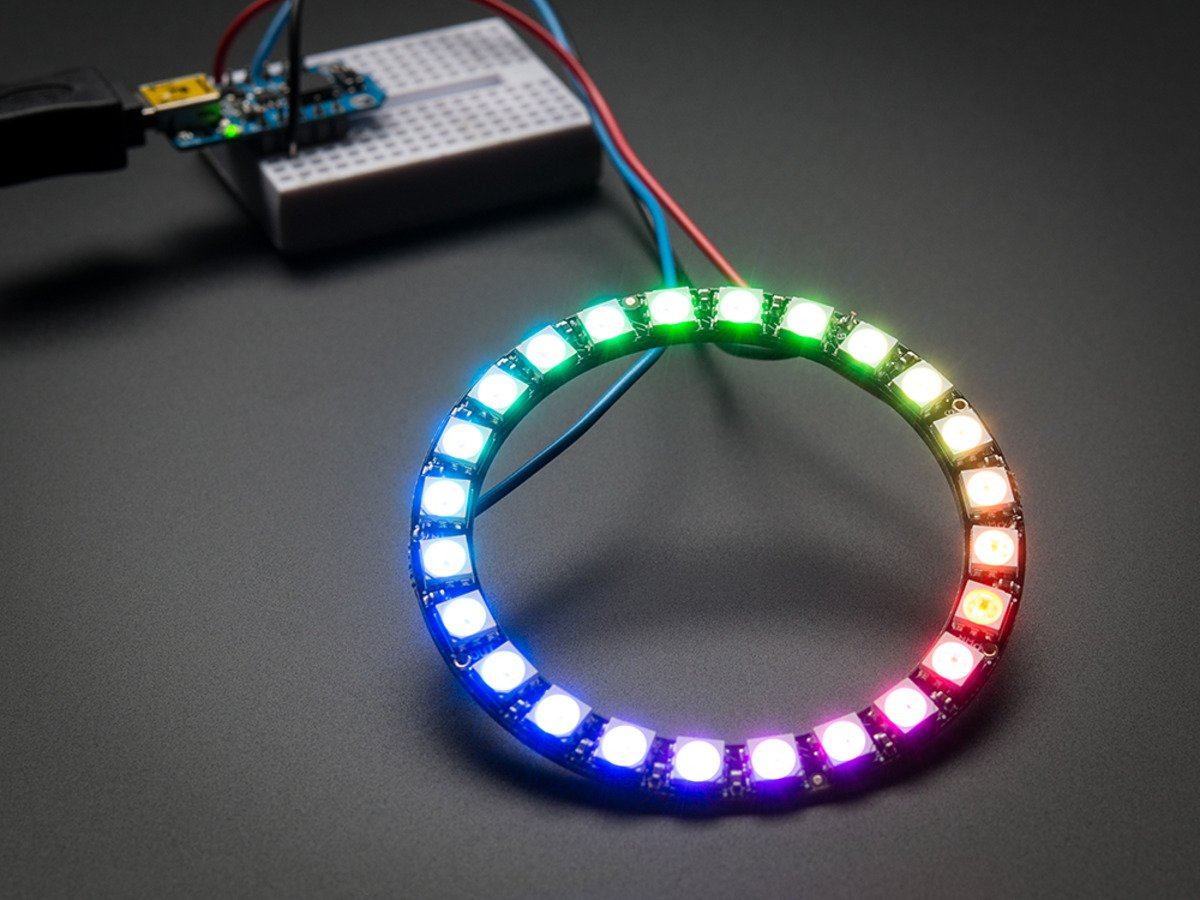 Neopixel Ring 24 X 5050 Rgb Led With Integrated Drivers