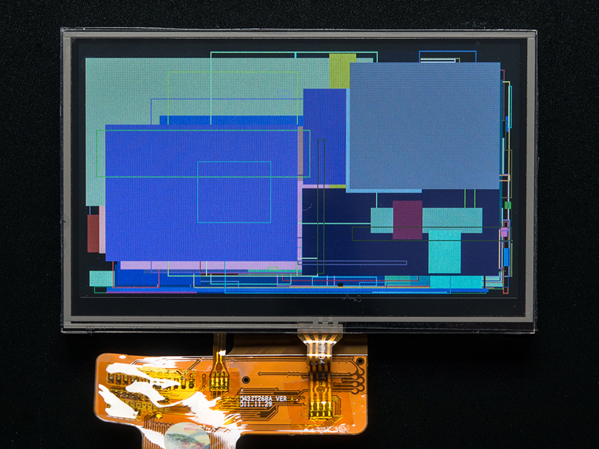 4.3 40-pin TFT Display - 480x272 with Touchscreen ID: 1591 - $29.95