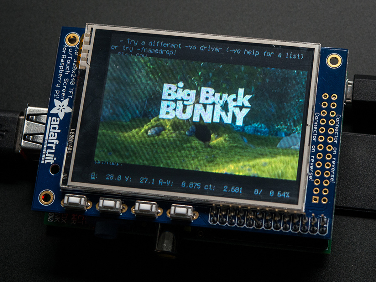 Adafruit Pitft 320x240 2 8 Tft Touchscreen For Raspberry Pi Id 1601 34 95 Adafruit Industries Unique Fun Diy Electronics And Kits