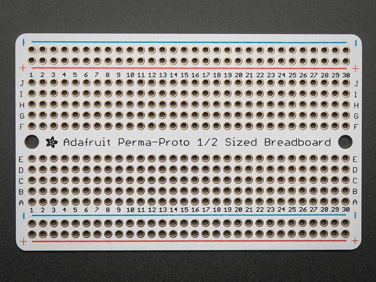 Adafruit Perma Proto Half Sized Breadboard Pcb Single Id 1609 Product Tags Flexible Printed Circuit Board