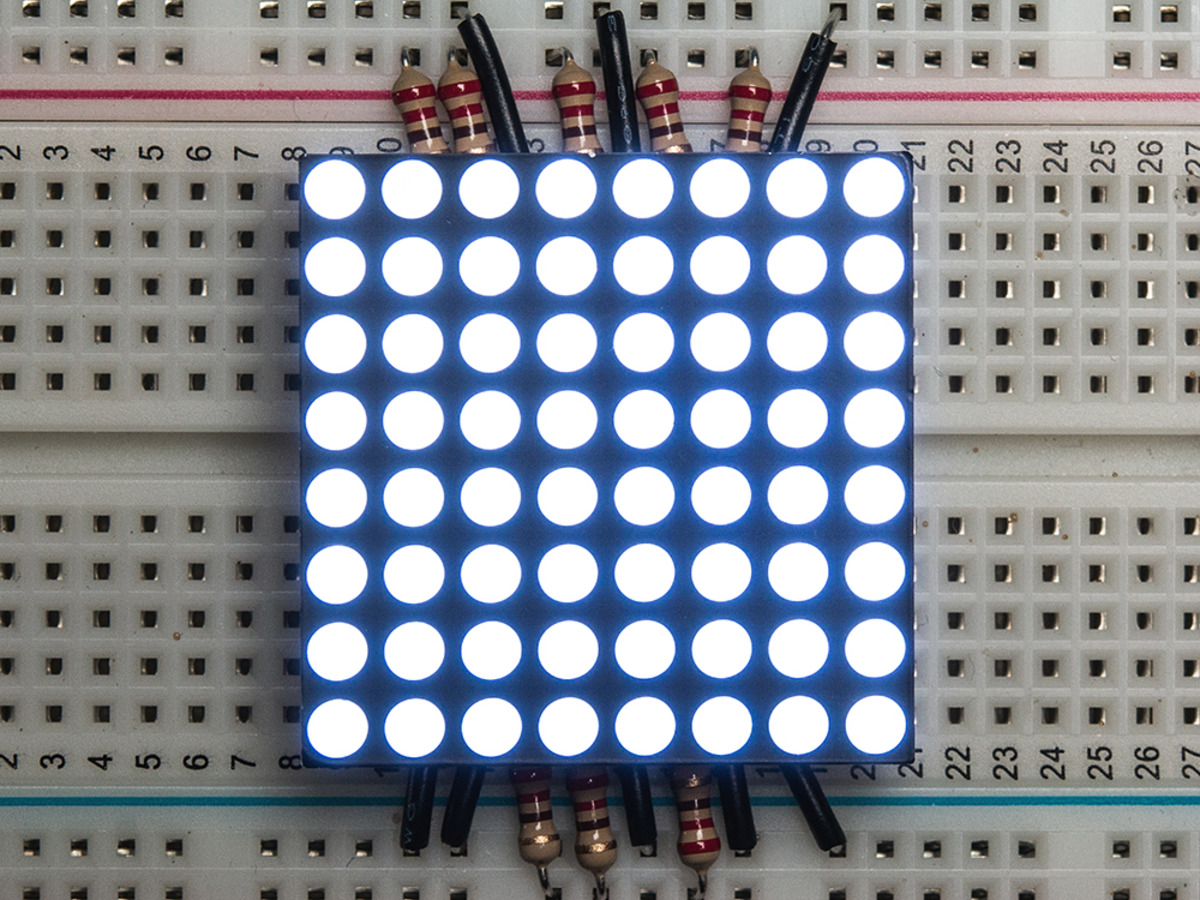 Small 12 8x8 Ultra Bright White Led Matrix Kwm 30881cwb Id 1613 Circuit On Breadboard Is