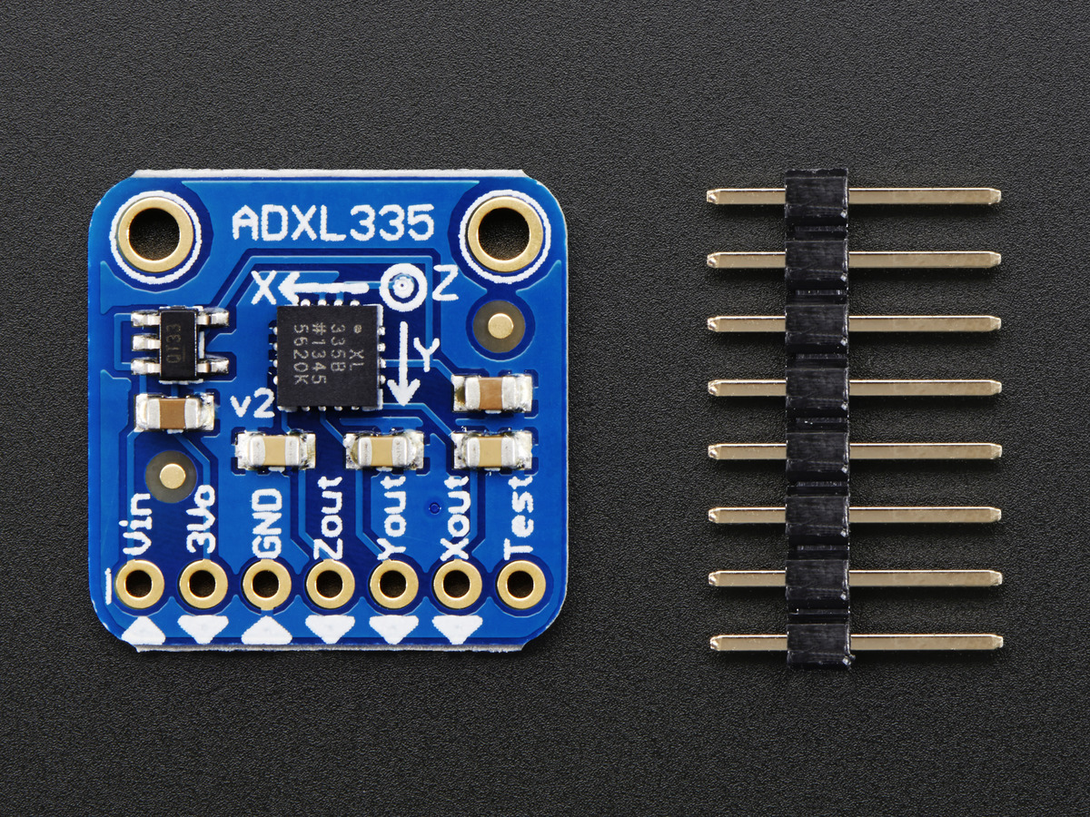 Adxl335 5v Ready Triple Axis Accelerometer 3g Analog Out Id Pcb Layout For Interfacing To Microcontroller