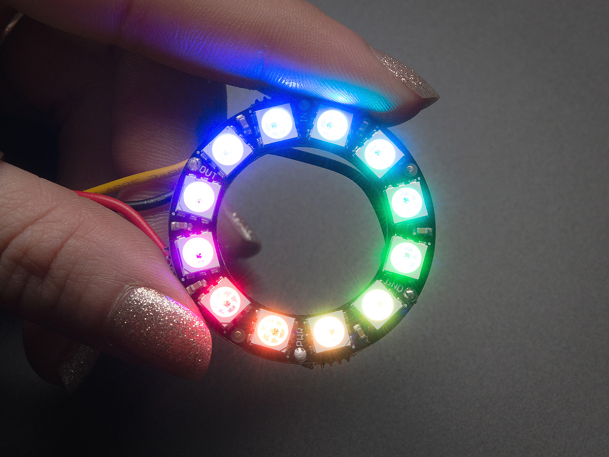 Neopixel Ring 12 X 5050 Rgb Led With Integrated Drivers Id 1643 7 50 Adafruit Industries
