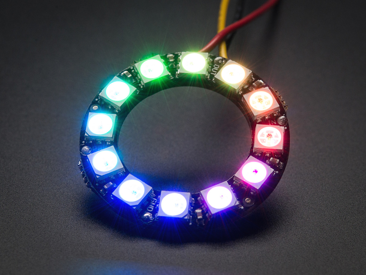 Neopixel Ring 12 X Ws2812 5050 Rgb Led With Integrated