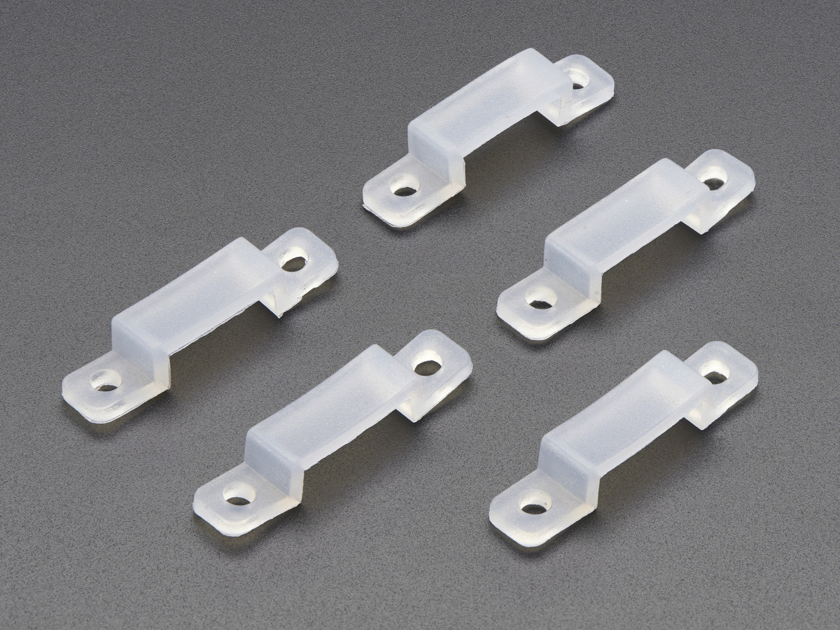 Silicone Clips for NeoPixel LED Strips - set of 5