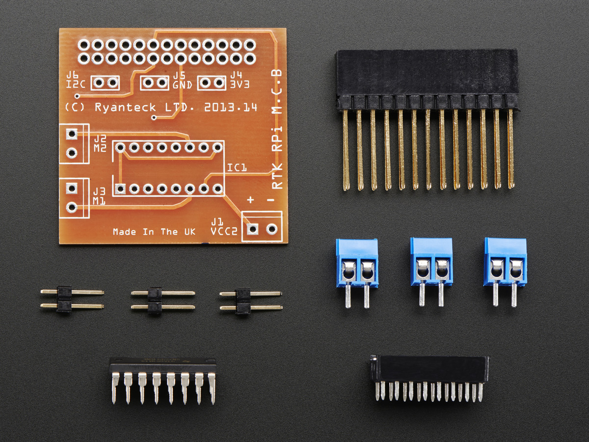 Pi Hats Bonnets Add Ons Adafruit Industries Unique Fun Diy Server Gpio Interface Power Board Relay On Usb Diagram Rtk Motor Controller Kit For Raspberry