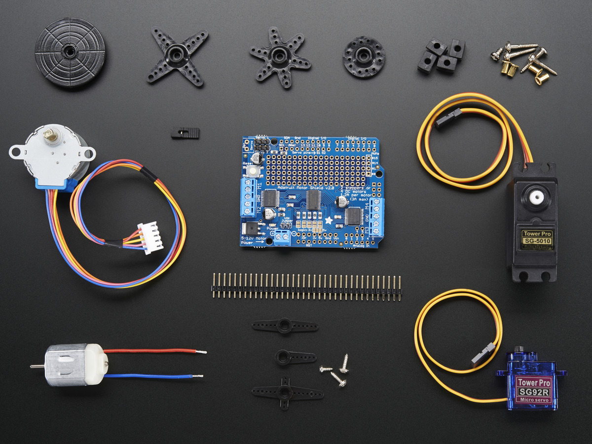 Adafruit Motor Stepper Servo Shield For Arduino Kit V12 Id 81 Basic Wiring Control Technical Data Eep Party Add On Pack